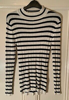 6198602de ATMOSPHERE SIZE 16 black and grey striped t-shirt - $2.62 | PicClick