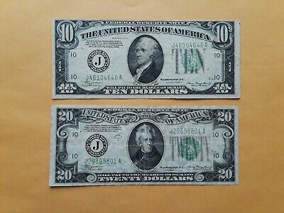 1934A $10 Federal Reserve Note Cleveland District F-VF Condition b mm