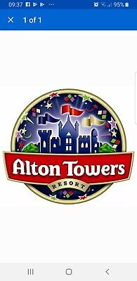 2x Alton towers tickets 12th Aug 2019