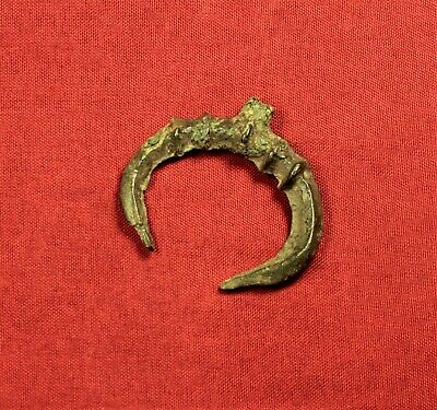 Ancient Celtic Bronze Lunulla Pendant