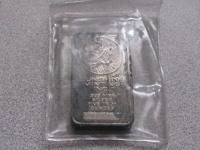 5-Oz Silver Bar Sunshine Mint .999 Pure Heavy Toned