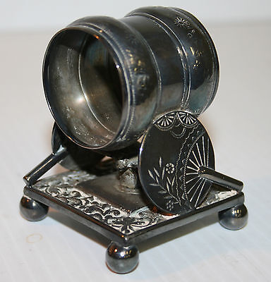 Victorian Silver Plated Napkin Ring Butterflies And Fans Meriden B Company #208