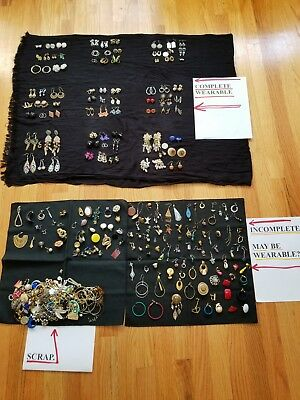 Earrings, Huge Lot Of Vintage Old, Rare, and Contemporary? (75 Pair Wearable)