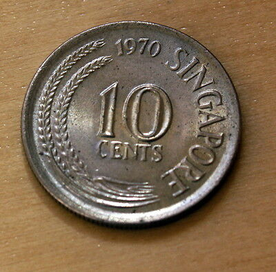 1970 Singapore 10 Cents Spotted Seahorse