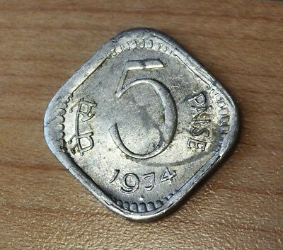 1974 India 5 Paise