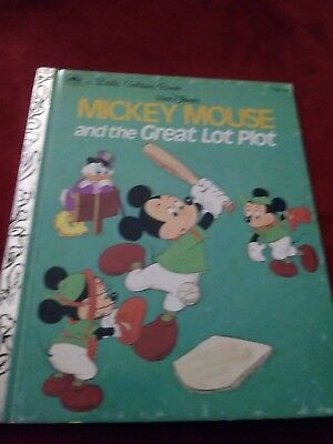 A Little Golden Book WALT DISNEY'S MICKEY MOUSE AND THE GREAT LOT PLOT 1974
