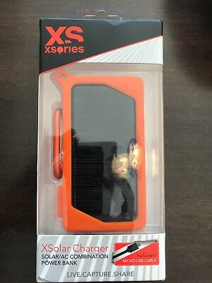 XSories XSolar Solar Power Bank Charger Rechargeable 2000mAh USB Port iPhone NEW