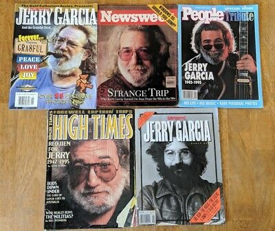 Jerry Garcia Magazine Lot Entertainment Weekly High Times People Newsweek Gold