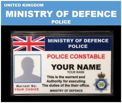 international ID collection..UNITED KINGDOM..Wallet Card.<<MINISTRY OF DEFENCE>>