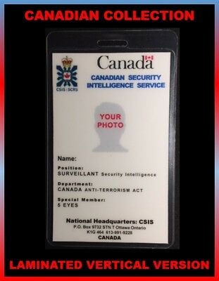 CANADIAN SECURITY INTELLIGENCE SERVICE.... Canadian  ID Collection