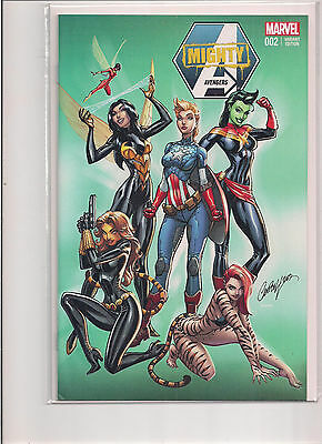 Mighty Avengers #2 NYCC Exclusive Variant Comic Book. J Scott Campbell!