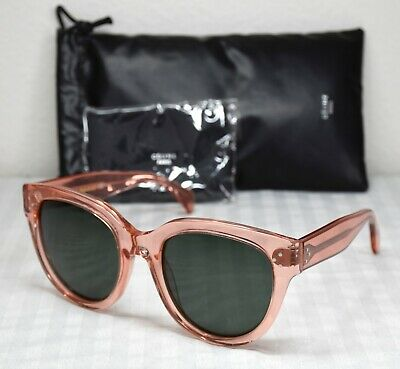 b4a2bc6f4db9 NEW CELINE CL41755 O1F85 AUDREY TRANSPARENT ROSE GREEN CAT EYE SUNGLASSES.  55mm
