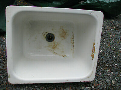 Vintage Cast Iron Laundry/Utility Sink W/Hanging Hardware