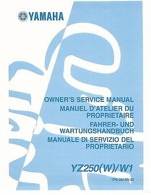 YAMAHA SERVICE WORKSHOP Manual 2007 YZ250F W