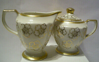 Kingwood China Creamer & Sugar Bowl And Lid - Excellent Condition Made In Usa
