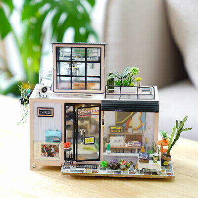 ROBOTIME DIY Miniature Dollhouse Kit with Furniture Doll House Model Girl Gift