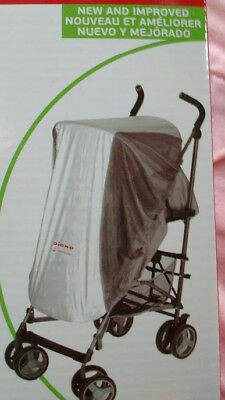 Diono UVA/UVB Sun and Insect Net Protection Stroller Cover NIB HTF