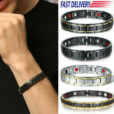 Therapeutic Energy Healing Bracelet Stainless Steel Magnetic Therapy Bracelet UE