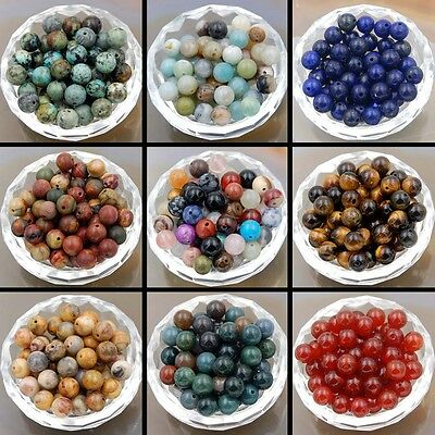 200pcs Wholesale Natural Gemstone Round Spacer Loose Beads Lot Pick Size 4mm 6mm