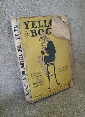 Antique Vintage 1925 - The Yellow Book No.52 - Short Stories - Young - Rare!