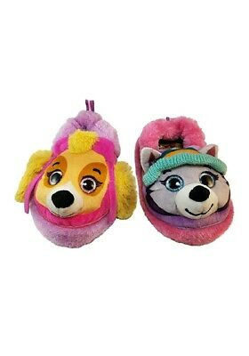 cb94dc2d0f38 Nickelodeon Paw Patrol Toddler Girl s Slippers Skye and Everest Size 7 8 New