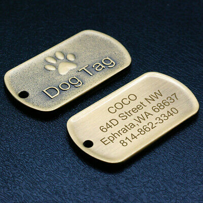 Custom Dog Tags Military Embosser Gold Personalized Engraved Army ID Tags Paw