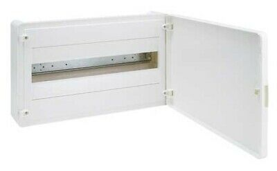 Hager SURFACE MOUNT ENCLOSURE 1-Row 18-Poles IP40 Protection, White Door