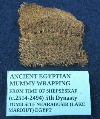 2514-2494 BC Ancient Egyptian Mummy Wrapping Cloth Fragment 4th - 5th Dynasty