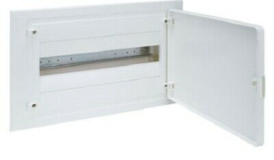 Hager QC FLUSH MOUNTED ENCLOSURE 293x460x97.5mm 63A 1-Row 18-Poles White Door