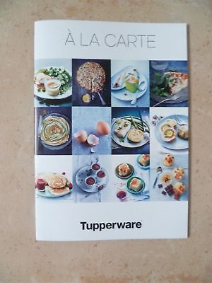 "livret ""à la carte"" tupperware"