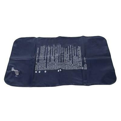 Dark Blue Large Inflatable Camping Pillow Travel Flocking Outdoor Home Office ZH