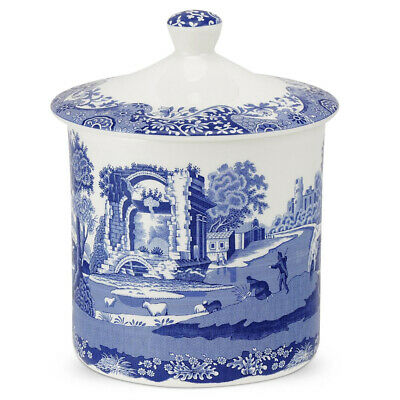 NEW Spode Blue Italian Storage Jar 19cm