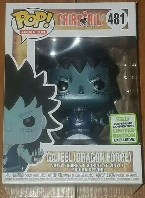 Funko Pop Animation #481 Gajeel Dragon Force Fairy Tail ECCC Shared Exclusive