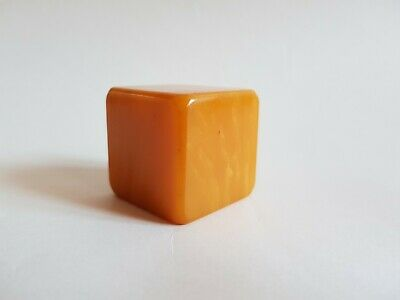 Collectibles Super Art Deco Orange Bakelite Catalin Phenolic Poker Dice Gaming X 5 Large Assortment Periods & Styles