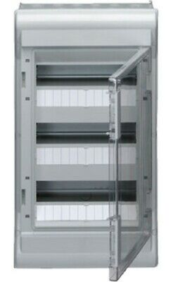 Hager WEATHERPROOF ENCLOSURE 552x310x151mm 3-Row 36-Modules Surface Mount, Grey