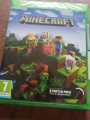xbox one game Minecraft includes starter pack new sealed
