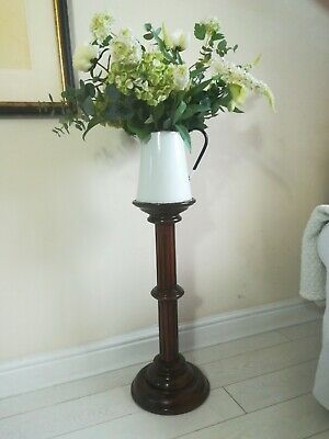 Antique plant stand mahogany jardiniere polished display pedestal