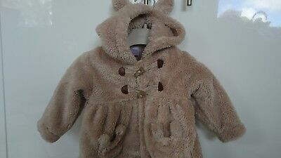 Next baby girl fluffy coat/jacket 6-9 months great condition