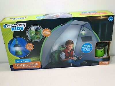 Discovery Kids Back Yard Camping Dome with LED Lantern Tent 68x38x39