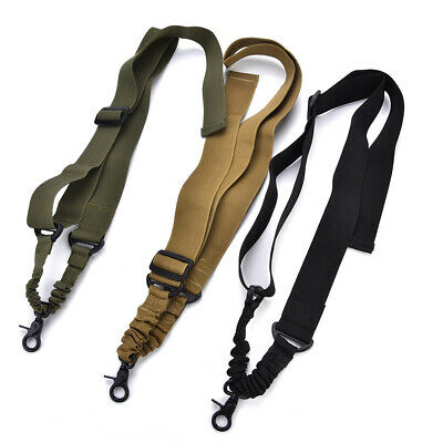 Adjustable Tactics 1 Point Sling For Bungee Rifle Gun Sling System Strap 140 SD