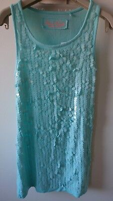 Next girls sequins summer holiday party tunic dress 7 years BNWT