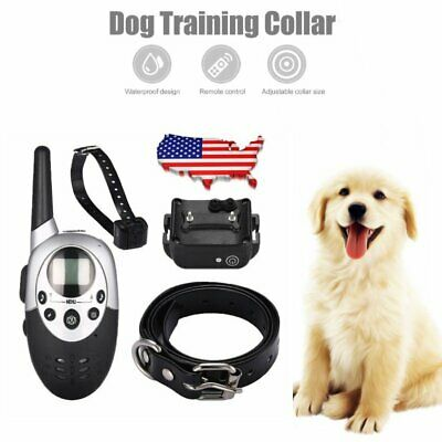 Pet Dog Training Collar 1000 Yard Rechargeable Electric Remote 100LV E-Shock MX