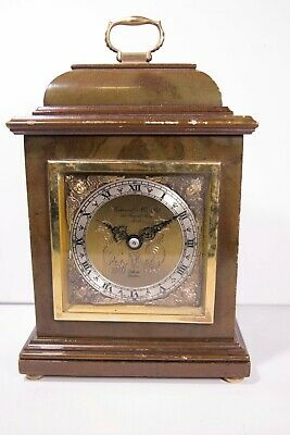 MANTLE CLOCK - by Elliott London Garrard & Co Ltd WOOD CASE - WORKING