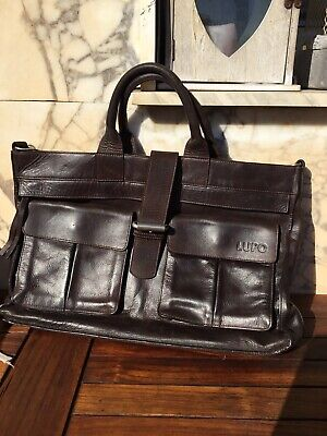 a624954b9d4 SUPERBE SAC CARTABLE Cuir Marron Lupo Tbe - EUR 49