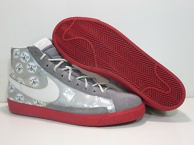 new style 07889 477d5 Nike Blazer High Ohio State Men Size 12 Silver Red 316664-012