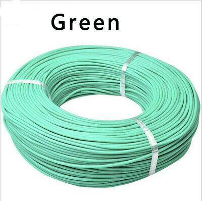 Flexible Soft Silicone Cable Wire 8/10/12/13/14/16/18/20/22AWG-30AWG Green
