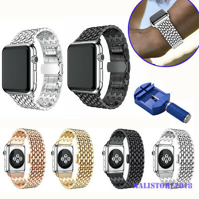 For Apple Watch Series 4/3/2/1 iWatch 38/42mm Stainless Steel Strap Watch Band