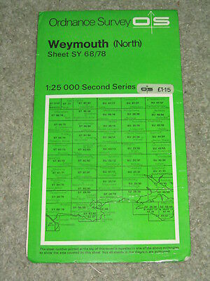 Ordnance Survey 1:25,000 Second Series: Weymouth (North) SY 68/78 - 1969 edition