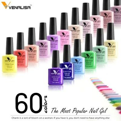 CANNI Venalisa Nail Gel Art Design Manicure 7.5Ml Soak Off Enamel Polish LED UV