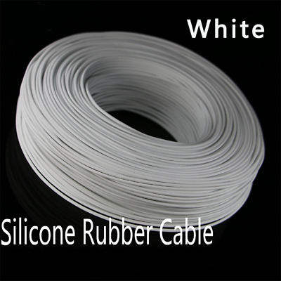 8/10/12/13/14/15/16-30AWG Flexible Soft Silicone Wire RC Cable High Temp White